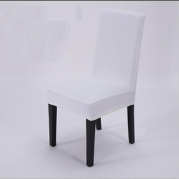 Wholesale Wholesale Polyester Spandex - High Stretch Spandex Chair Cover for Wedding Banquet Hotel Bar Home and Party Supplies 11 Color Available