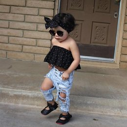Wholesale Jeans Children Girls For Summer - Fashion Baby Denim Pants Boys Girls Jeans Cool Pant Ripped hole jeans Long Casual Pants For Boy Girl Children Clothing Beggar pants A6527