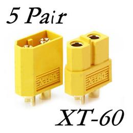 Novo Atacado 5 Pares XT60 XT-60 Masculino Feminino Bala Conectores Plugs para RC Lipo Bateria de