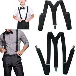 Wholesale Wholesale Mens Suspenders - Wholesale- 2PCS Fashion Casual Adults and Children Womens Mens Kids Boys  Suspenders Clip-on Braces Elastic All-match Accessories QZBD001