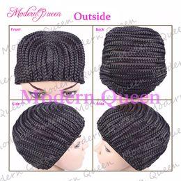 Wholesale Hair Wigs Caps - Crochet Braids Hair Wig Cap Crochet Wig Caps Easy Sew In Cornrows Cap Elastic Crochet Braids Glueless Wig Braided Caps For Making Wigs