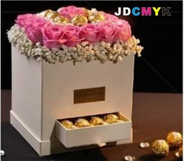 Wholesale Gift Boxes Buy - Flowers gift box square drawer flower box chocolate  candy box,buy 2set have 10 % discount