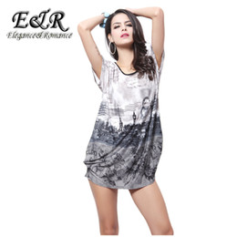 Wholesale Ice Outlet - Wholesale-2016 new fashion factory outlets new short-sleeved summer foreign trade in large sizes Ice silk dress 531S01