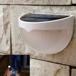 Sensor Alimentado por energía solar Lámpara de luz LED de pared al aire libre ABS + PC Cubierta Color Paquete Jardín Escalera Bombilla impermeable desde fabricantes