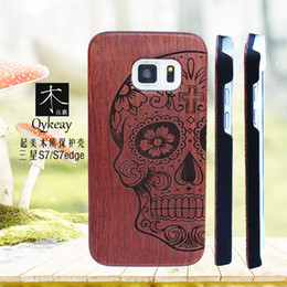 Caixa de madeira sólida iphone on-line-Luxo novo estilo de madeira sólida phone case para iphone 5 se 6 6 s 7 plus casos de bambu de madeira de smartphones tampa traseira dura para samsung