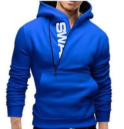 Wholesale Sweater Assassins - Men's Clothing Letters of bump color man fleece side zipper Hoodies & Sweatshirts Jacket Sweater Assassins creed Size