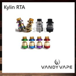 Wholesale Wholesale Dripping Atomizers - Vandy Vape Kylin RTA 2ml   6ml Tank Plethora of Airflow Holes Both Single and Dual Coil Atomizer Wide Bore Drip Tip 100% Original