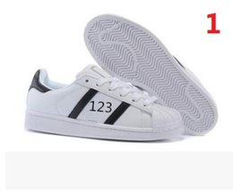 Wholesale Superstar Factory - Highquality Factory sale Fashion Men Casual Shoes Superstar Female Sneakers Women Zapatillas Deportivas Mujer Lovers Sapatos Femininos shoes
