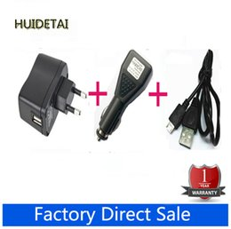 Wholesale Micro Usb Charger Wall Port - Wholesale- AC Wall Charger Adapter 5V + DC Car Charger USB Port + Micro USB Cable for LENOVO K900 A800 K860i K860 K800 A798t