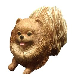 Wholesale Hand Carved Crafts - 2017 New Arrival Wholesale-Scale Models Hand made Resin Crafts Indoor Home Decor Love Pomeranian for Dog Lovers