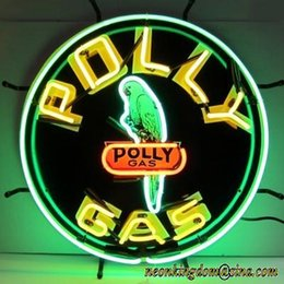 Wholesale Gas Signs - New Polly Gas Neon Sign handicrafted real glass tube Neon Light Beer Lager Bar Pub Sign Multiple Size 24*24