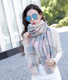 Wholesale Increase Ring - New Fashion Wool Winter Scarf Women Spain Scarf Plaid cashmere Thick Brand Increase lattice Shawls and Scarves for Women 34