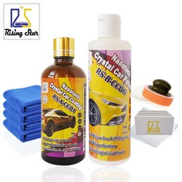 Wholesale Remove Scratches - Wholesale- Rising Star RS-CC0106 Nanotech Crystal Car Coating&Polish Paste 225ml Kit for DIY User Micro Scratches Remove+9H Liquid Glass