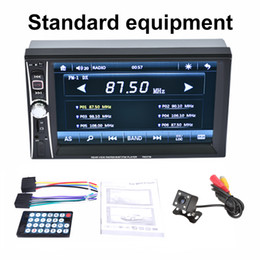 "Wholesale Dvd Transmitter - 6.6"" Double 2DIN Car MP5 MP3 Player Car DVD FunctionBluetooth Touch USB FM Stereo Radio + Camera"
