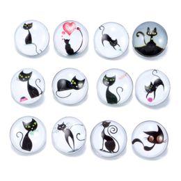 ganchos de metal plano Desconto Novo 18mm Ginger Snaps Botão De Vidro De Cristal Kawai Botão Animal gatos bonitos série Padrão Fit Charme Pulseiras DIY Noosa pedaços de jóias