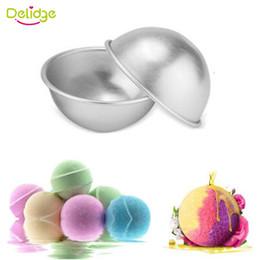Wholesale Round Metal Tub - Delidge 2 pcs lot Round Shape Ice Cream Ball Mold metal DIY Ice Cream Maker Lollipop Cake Mold Candy Chocolate Mold