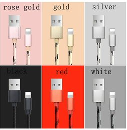 Wholesale Iphone Charger Braid - For IPhone 5 5s se Micro USB Cable Micro USB 3.0 Sync Data Cable Charging Charger Cable adapter For IPhone 6 6s 7 plus Nylon braided data c