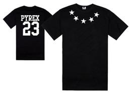 Wholesale Exo Shorts - Hot Sales Men Women T-Shirt Kanye EXO Pyrex Vision 23 T Shirt Summer Hipster Top Hip-Hop Tee Shirt PYREX 23 Clothing HBA