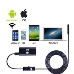 Wholesale Endoscope Camera Wireless - Mini 5M wireless Endoscope Wifi Hidden for iOS Android Borescope spy HD 720P 2.0MP Tube IP67 Waterproof Inspection Camera