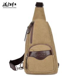 Wholesale Men Shoulder Bag Fanny Pack - 2017 New Crossbody Bag Men Messenger Bags Canvas Casual Travel Rucksack Chest Bag Sling Bags Fanny Shoulder Back Pack