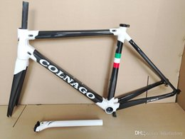 Wholesale Bicycle Bike Clamps Fork Frame - New C60 Road bike Frame full carbon fiber bicycle frame C60 with BB386 Frame+ Seatpost+ Fork+ Clamp+ Headset A01