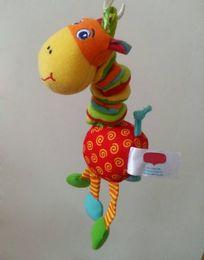 Wholesale Infants Playpens - Wholesale- Baby Crib Stroller Toy 0-12 months Plush Giraffee Musical Infant Newborn Hanging Baby Rattle Soft Playpen Bed Pram