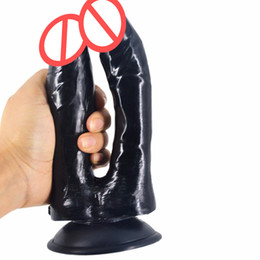 Wholesale dual dildos - Double dildo dual head dick realistic anal dildo sex product for women man gay masturbation toy lifelike artificial penis