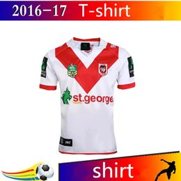Wholesale George T Shirt - 2017 St George Rugby Shirt The Best Quality T-Shirt St George Rugby Jersey Free Shipping
