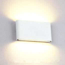 Wholesale Garden Wall Sconces - New Falcate 8W 14W LED Outdoor Wall Light IP65 Waterproof Wall Lamp Garden Lights Led Wall Sconce Up Down Lighting Bathroom Lamp