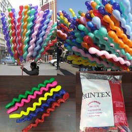 Wholesale spiral latex - Wholesale Colorful Kids Toys Balloon Spiral Balloons For Wedding Birthday Party Christmas toys Christmas Decorations High Quality
