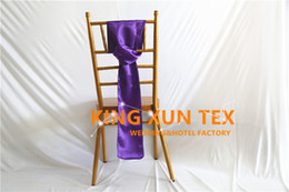 Wholesale Cheap Satin Fabric Wholesale - Cheap Price 100pcs Satin Chair Sash Bow Fit For Chiavari Chair Wedding & Event Decoration Free Shipping