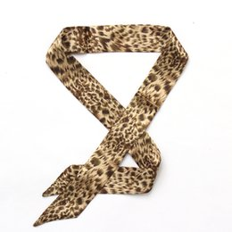 Wholesale Ladies Hair Ribbons - 2017 Silk Ribbon Leopard handle bag lady twilly scarf decoration accessories handbag twilly brand bow hair bands scarves