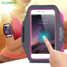 Wholesale Running Pouch Iphone - NEW FLOVEME For iPhone 7 6 6s Case Sport Pouch 4.7 inch Universal Waterproof Outdoor Running Arm Band Case Mobile phones bag s6 Edge Plus S8