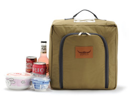 Wholesale Ice Bag Insulation - Wholesale- fashio Portable Insulated Folding Picnic Basket Thicken Waterproof Fresh Keeping Oxford Cooler Bag Lunch Insulation Bags Ice Pack