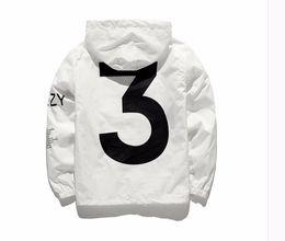 Wholesale Mens Long Black Coat - 2018 KANYE WEST jacket Men Hip Hop Windbreaker MA1 Pilot Mens Jackets Tour YEEZUS Season Y3 Coat US size