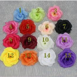 grossisti per fiori artificiali Sconti 8 centimetri di seta artificiale fiore testa di rosa per la decorazione domestica di nozze grossista 15colore può scegliere bianco rosa rossa