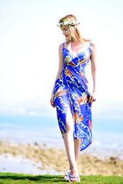 Wholesale Shawl White Satin Flowers - Summer sandbeach scarf flower satin silk 2017 fashion new style high quality changeable shawl 90*180CM popular pattern printed USA style