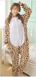 Wholesale Jumpsuits Women Leopard - Latest Leopard Bear Kigurumi Pajamas Animal Suits Cosplay Outfit Halloween Costume Adult Garment Cartoon Jumpsuits Unisex Animal Sleepwear