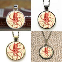 Wholesale Octopus Pendant Necklace - 10pcs Octopus Art Pendant Necklace keyring bookmark cufflink earring bracelet