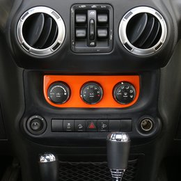 Wholesale interior air conditioners - Car Air Conditioner Switch Decorative Cover Trims Fit New Arrival Interior Accessories For Jeep Wrangler 2011-2016