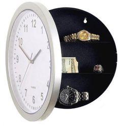 Wholesale modern money - 2017 New Wall Clock Hidden Secret Compartment Safe Money Stash Jewellery Stuff Storage White 10-inch Free Shipping