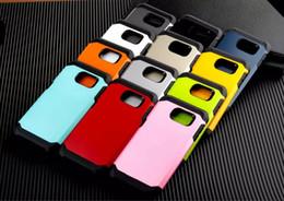 Para Samsung Galaxy S6 EDGE PLUS S7 EDGE NOTA4 5 7 A710 G4 Funda de armadura delgada A prueba de golpes 2iN1Tough Silicona de goma híbrida TPU Caja del teléfono móvil desde fabricantes