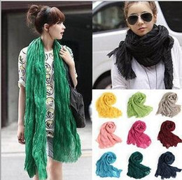 plain cotton voile scarves Coupons - 2017 Winter American and Europe Hottest Women Fashion Solid Cotton Voile Warm Soft Scarf Shawl Cape 27 Colors Available G445