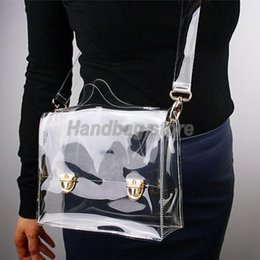 Wholesale Wholesale Clear Pvc Handbags - Wholesale- New Fashion PVC Transparent Bag Clear Handbag Tote Shoulder Bag Cross Bag