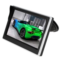 Wholesale view screen - 5 Inch Car TFT LCD Monitor 800*480 Screen 2 Way Video Input For Rear View Backup Reverse Camera DVD VCD CMO_30A