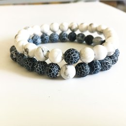 Wholesale White Buddha - 2017 new Wholesale Handmade weathering agate stone matte yoga set Buddha Beads Bracelet Natural Stone Bracelets for Men Women Jewelry