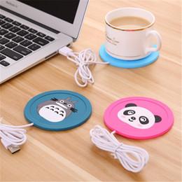Wholesale Mug Pad - New Cartoon 5V USB Warmer Silicone Heat Heater for Milk Tea Coffee Mug Hot Drinks Beverage Cup Mat Pad best gift