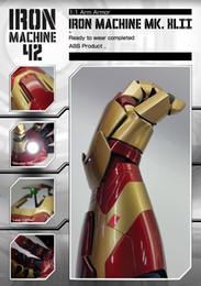 Homem de Ferro Mark 42 MK42 1/1 Luva de Braço Wearable Móvel com Lançamento Som Laser Weapon e Mão LED de