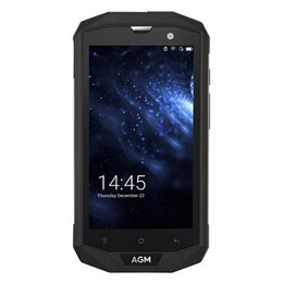 Wholesale Dust Proof Mobile Phones - 2017 Water Dust Shock Proof Phones 5.0 inch Original AGM A8 US Version 3GB 32GB Cell Phones Quad Core Smartphone 13.0MP Mobile Phone