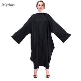 Wholesale Waterproof Hairdressing Cape - High Quality Black Waterproof Hair Cutting Cape,Barbers Hairdresser Styling Hair Cloth Cape With Sleeves,Beauty Salon Hairdressing Cape